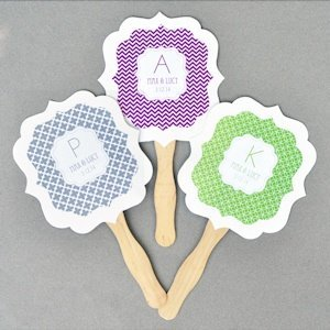 Personalized MOD Pattern Monogram Paddle Fans image