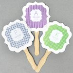 Personalized MOD Pattern Monogram Paddle Fans