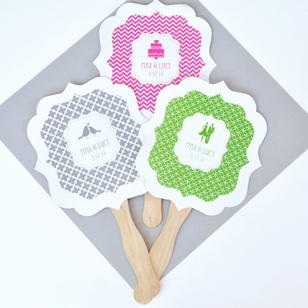 Personalized Wedding Paddle Fans MOD Pattern