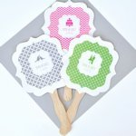 Personalized Wedding Paddle Fans - MOD Pattern
