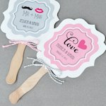 Personalized Wedding Themed Paddle Fans