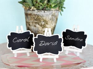 Framed Chalkboard Place Card Holders image
