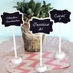 Framed Chalkboard Place Card Stands