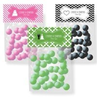 Personalized Wedding Theme Candy Bag Toppers