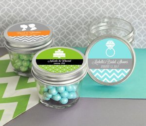MOD Pattern Theme Mini Mason Jars - 4 oz. image