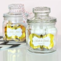 Personalized Metallic Foil Mini Cookie Jars