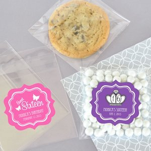 Sweet 16/15 Clear Candy Favor Bags (Set of 24) image