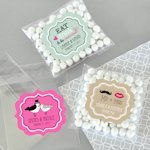 Personalized Clear Wedding Candy Bags (Set of 24)