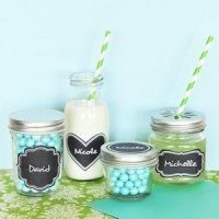 Vinyl Chalkboard Wedding Favor Labels (Set of 24)