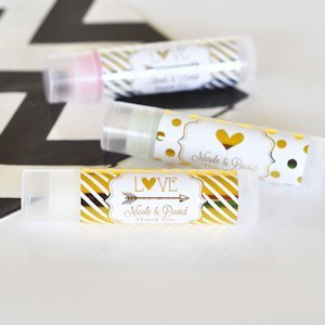 Personalized Metallic Foil Lip Balm Tubes image