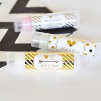 Personalized Metallic Foil Lip Balm Tubes