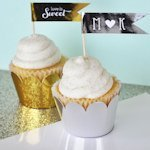 Metallic Gold & Silver Foil Cupcake Wrappers