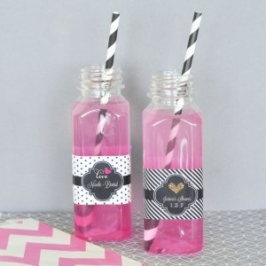 Personalized Theme French Square Plastic Bottles image
