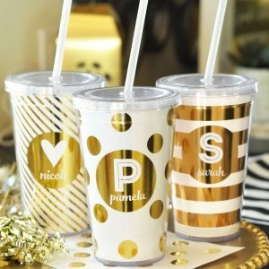 Personalized Metallic Foil Tumblers image