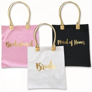 Gold Bridal Party Tote Bag image