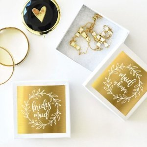 Bridal Party Jewelry Gift Boxes (Set of 6) image