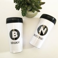 Black & White Travel Mugs