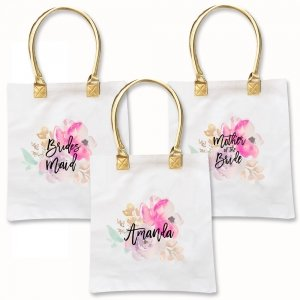 Watercolor Bridal Party Tote Bag image