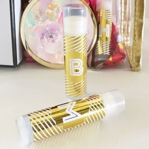 Monogram Metallic Foil Lip Balm (Set of 8) image