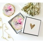 Personalized Floral Compacts