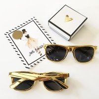 Metallic Gold Sunglasses
