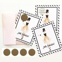 Hello Beautiful Scratch Off Cards (Set of 4)