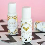 Personalized Metallic Foil Lotion Wedding Favors