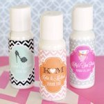 Personalized Theme Lotion Wedding Favors