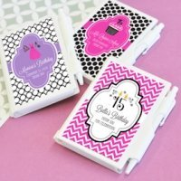 Personalized Notebook Sweet 15 Party Favors