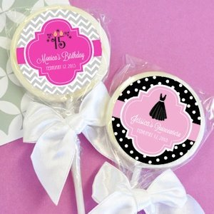 Personalized Lollipop Sweet 15 or Quinceanera Favors image