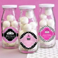 Personalized Quincenera Party Favor Milk Bottles