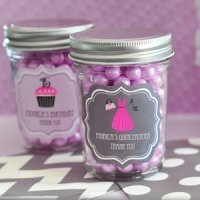 Personalized Quinceanera Favors - Mini Mason Jars