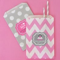 Quinceanera Chevron & Dots Souvenir Goodie Bags (Set of 12)