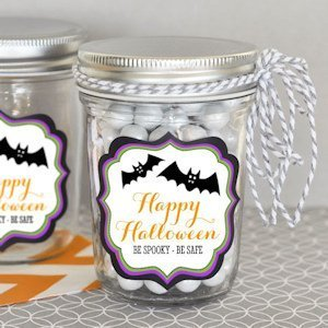 Personalized Spooky Halloween Mini Mason Jars image