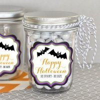 Personalized Spooky Halloween Mini Mason Jars
