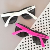 Hot Pink & White Bachelorette Party Sunglasses (Set of 6)