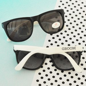 White Groom & Groomsman Sunglasses (Set of 6) image