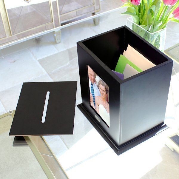 Typical Cash Wedding Gift: Reception Wedding Card Holder Photo Box (Black Or White