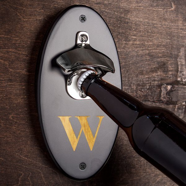 Custom Wall Mounted Bottle Opener 2 Colors