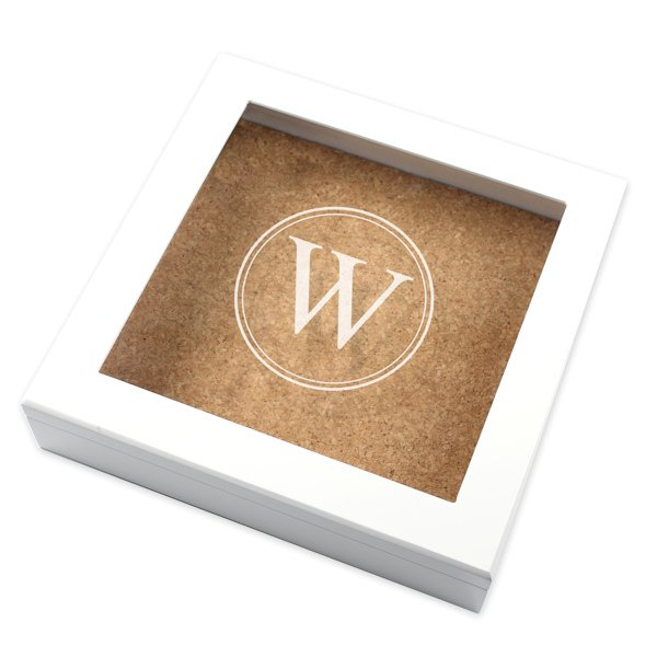 Cork Wedding Memory: Custom Cork Board Keepsake Box (2 Colors