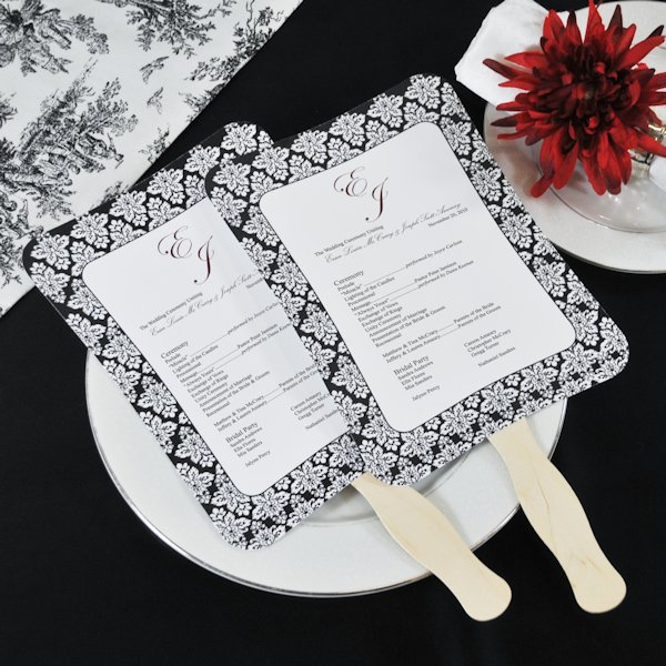 Diy Wedding Program Fans Kit With Design Template