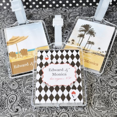 Personalized Luggage Tags Wedding Gift: Personalized Wedding Favor Luggage Tags