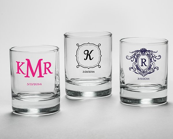 personalized shot glass wedding favors 27 designs