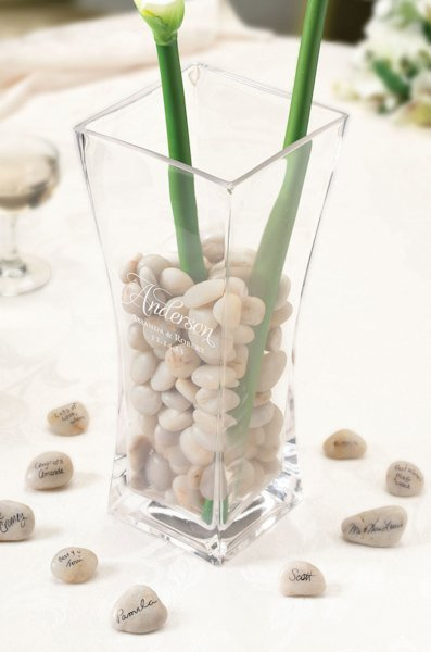 Signing Stones with Glass Vase (Alternative to Guest Books)