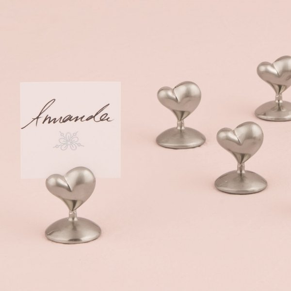 Whimsical heart seating card holders set of 8 for Table number holders