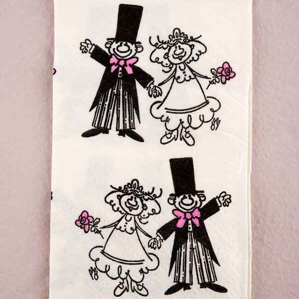 Questions To Ask Bride And Groom About Each Other: Wedding Couple Tissue Handkerchiefs