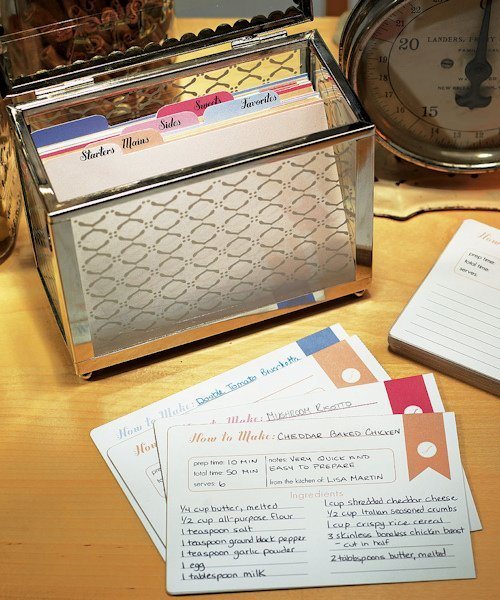 Decorative Recipe Box 2: 'Recipes Of The Heart' Cards And Dividers (Set Of 45