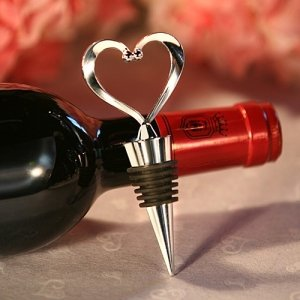 Heart-topped Chrome Bottle Stopper image