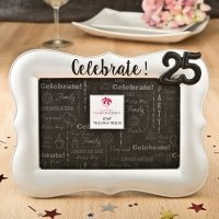 Magnificent Celebrate Silver 25th Debossed 4 x 6 Frame