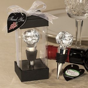 Multi-Faceted 'Crystal' Ball Bottle Stopper image